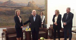 Συνάντηση με την Πρέσβη της Σουηδίας
